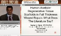 Human Acellular Regenerative Tissue Scaffolds in Full Thickness Wound Repair - What Does the Literature Tell Us?