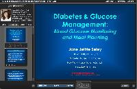 Diabetes & Glucose Management; BGM and Meal Planning