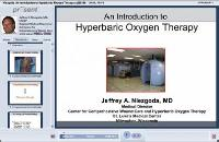An Introduction to hyperbaric oxygen therapy