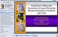 Indications risks and outcomes of lower extremity revascularization in patients with PVD